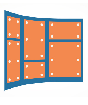 graphic of a wall with panels