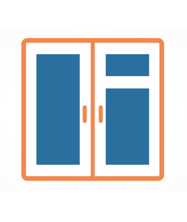 graphic of double doors