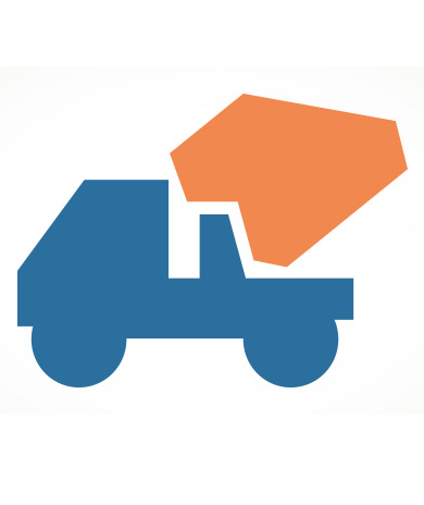 graphic of dump truck